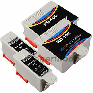 4 Pack 10B 10C #10 Compatible Ink Cartridges For Kodak ESP 3 5 7 9
