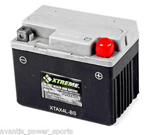 BATTERY Xtreme AGM Permaseal XTAX4L BS Scooter ATV 1 Yr Warr $49.00