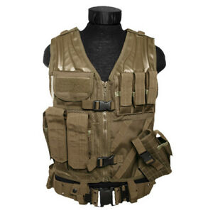 Military USmc Tactical Army Carrier Marines Vest + Belt + Holster Coyote Tan