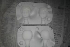 BOY GIRL JOL-LEE DOLL MOLD 1980 JM-268-A FACE HEAD Ceramic Casting Porcelain