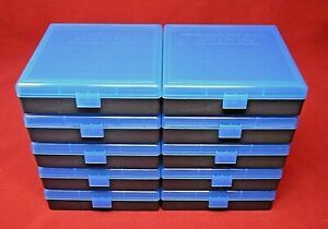 (10) X 45 ACP  40  10MM PLASTIC AMMO BOXES (BLUE COLOR) BERRY'S MFG