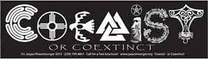 S544 Coexist or Coextinct Large Bumper Sticker