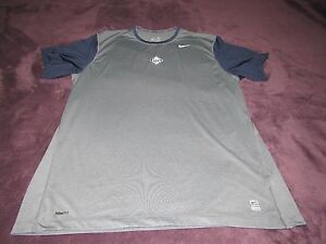 AUTHENTIC PLAYER ISSUED NIKE PRO TAMPA BAY DEVIL RAYS FIT DRY SHIRT game worn