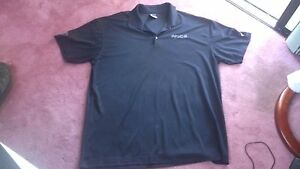 Nike Golf Shirt Men's 3XL Black Short Sleeve Fit Dry P.R.I.D.E.