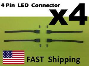 4 qty Male Female 4 Pin With Wire RGB Connector 3528 5050 RGB LED light Strips