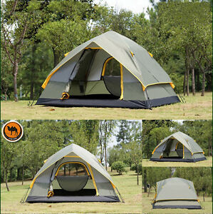 Sporting Goods Camel Brand Professional 4 Person 4 Season Oxford Outdoor Tent
