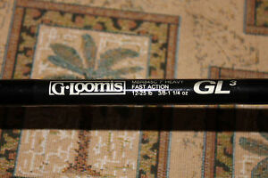 GLOOMIS GL3 Casting Rod #MBR845C  7' Heavy Good Cond
