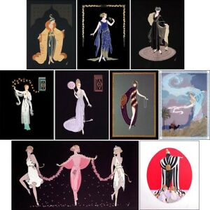 Erte Collection of 9 Original Limited Edition Embossed Serigraphs