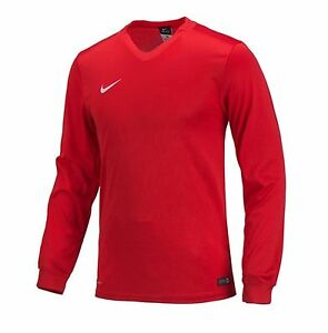 NIKE Dri Fit Soccer Jersey Energy 3 LS TH AUTHENTIC Football Sports Red Shirt
