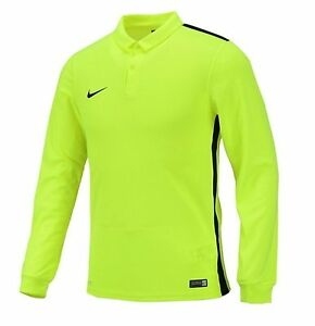 NIKE Dri Fit Soccer Jersey Challenger LS AUTHENTIC Football Sports Green Shirt
