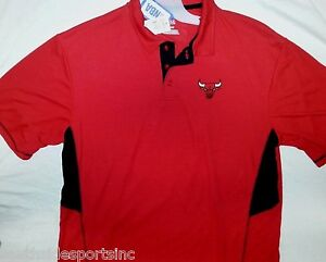 CHICAGO BULLS NBA TX3 COOL DRI FIT GOLF SHIRT POLO NEW PICK SIZE MED LG 2XL