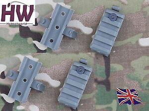 AIRSOFT AF CORE OPS MICH GREEN OD FG HELMET RAIL CLIPS BLOCK MOUNTS UK