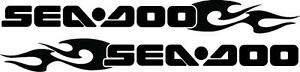 Set of 2 Seadoo Flame Boat Decals-3 Sizes Available