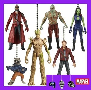MARVEL GUARDIANS OF THE GALAXY MOVIE FIGURINES CEILING FAN PULLS STAR-LORD, ETC.