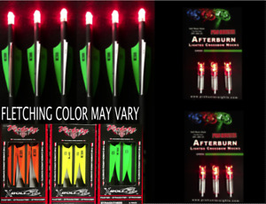 NEW 6 VICTORY CROSSBOW BOLTS ( 6 RED LIGHTED NOCKS ) 20