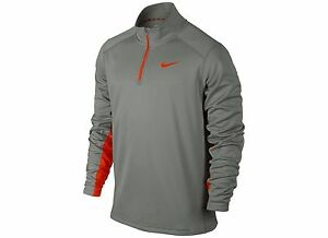 MEN'S NIKE KO 14 ZIP THERMA FIT SIZE SMALL PULLOVER LONG SLEEVE SHIRT GRAY NWT