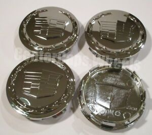 4 NEW 3.25 CADILLAC ESCALADE CENTER CAPS Fits: 18 20 22 Wheels 9595891