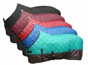 Showman HORSE BLANKET 300G Fill CONTOURED 420D QUILTED Nylon 70D RIPSTOP Lined