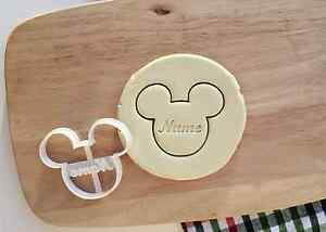 Personalized Name Mickey Cookie Cutter Any Name Baby Child Baby Shower Gift