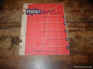 Permo Products for the Components Parts Catalog Trade 1952 TO 53 FREE US SHIP