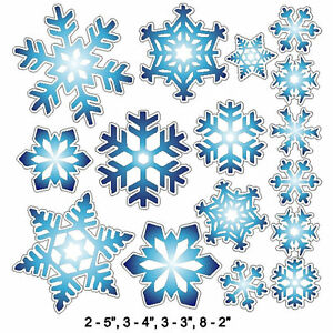 Peel and Stick Blue Snowflake Stickers Removable and Repositionable Wall Art $10.99