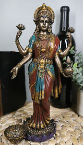 Hindu Collectible Goddess Lakshmi Statue Deity of Prosperity Figurine Sculpture