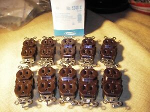 NEW Lot of 20:  Brown LEVITON  5248-X. Receptacles/Outlet. 15amp 120v