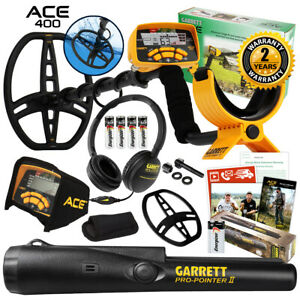 Garrett ACE 400 Metal Detector with DD Waterproof Search Coil and Pro Pointer II