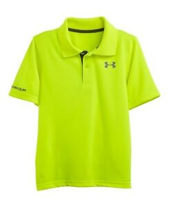 NWT Under Armour Little  Boys' match play polo shirt size 4 Color Hi Vis Yellow