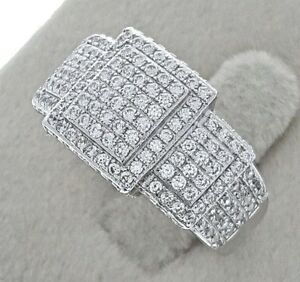 Women Ladies Female Genuine Solid 925 Sterling Silver Cubic Cocktail Party Ring