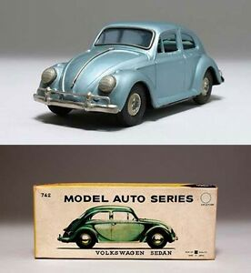bandai friction tin plate volkswagen sedan