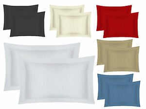 Oxford Pillow Cases 100% Egyptian Cotton 200 Thread count Hotel Quality