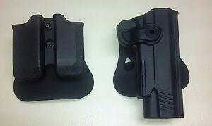 Itac Paddle Holster & Double Magazine pouch for GSG 1911 22 w Acessory Rail NEW