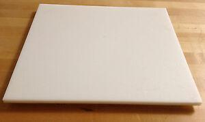 24quot; x 48quot; White Plastic HDPE Cutting Board in 1 4quot; 1 2quot; 3 4quot; Thick
