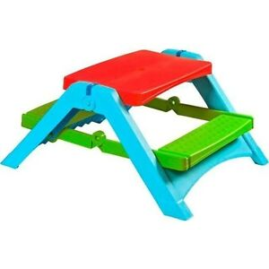 NEW Folding Kids Outdoor Picnic Table Chairs Activity Play Desk Camping Craft