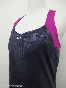 WOMENS NIKE DRI-FIT PURPLE BLUE ATHLETIC TENNIS SHIRT TANK sz L womens dry ^2390