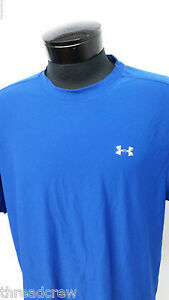 UNDER ARMOUR UA HEAT GEAR ATHLETIC SHIRT JERSEY sz L mens blue dry fit SS^571