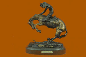 BRONZE FREDERIC REMINGTON RATTLESNAKE SCULPTURE STATUE COLLECTIBLE NEW FIGURINE $119.40