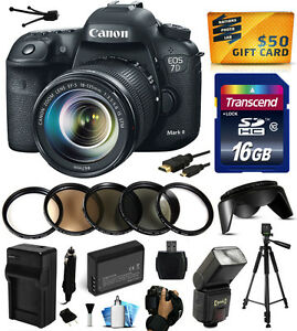 Canon EOS 7D Mark 2 II Digital Camera with 18-135mm Lens (16GB Deluxe Bundle)