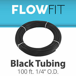 """Express Water Black 1/4"""" Quarter Inch PE Tubing for Reverse Osmosis System 100FT"""