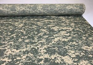 ACU Army Digital Nylon Cotton Ripstop Fabric Ny Co 60quot; W Camo Camouflage By Yard