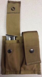 Double Pouch 9mm Stacked 1911 45  40 stacked  Magazine Tan Handgun Mag MOLLE II