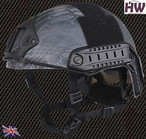 AIRSOFT MH TYPE OPS FAST BASE JUMP HELMET KRYPTEK TYPHON WITH ARC RAILS