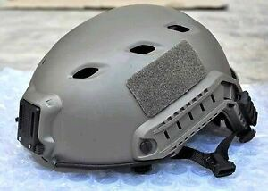 AIRSOFT GREEN FG OPS TACTICAL HELMET JUMP UK FAST DELIVERY RAIL