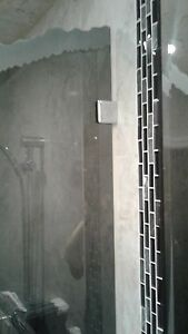 SHOWER DOOR GLASS HOLDERS... (NO CUTOUT REQUIRED)...  ALL COLORS, SAVE ON SLOTS