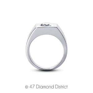 3.09ct. H-SI2 Ex Round A.G.I Certified Diamond 950 PLT. Cluster Men's Ring 35.5g
