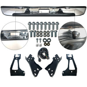 New Steel Chrome Step Bumper Assembly for Chevy Silverado GMC Sierra 1500 99-06