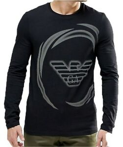 BNWT EMPORIO ARMANI Men's Long Sleeve T-shirt Black - Size M L XL