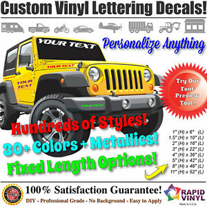 Custom Vinyl Lettering Decal Sticker - Business Car Boat Body Truck Window Signs