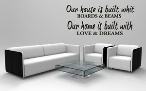Home Wall Decal Wall Decal Quote Wall Decals Living Room Our House Is Built
